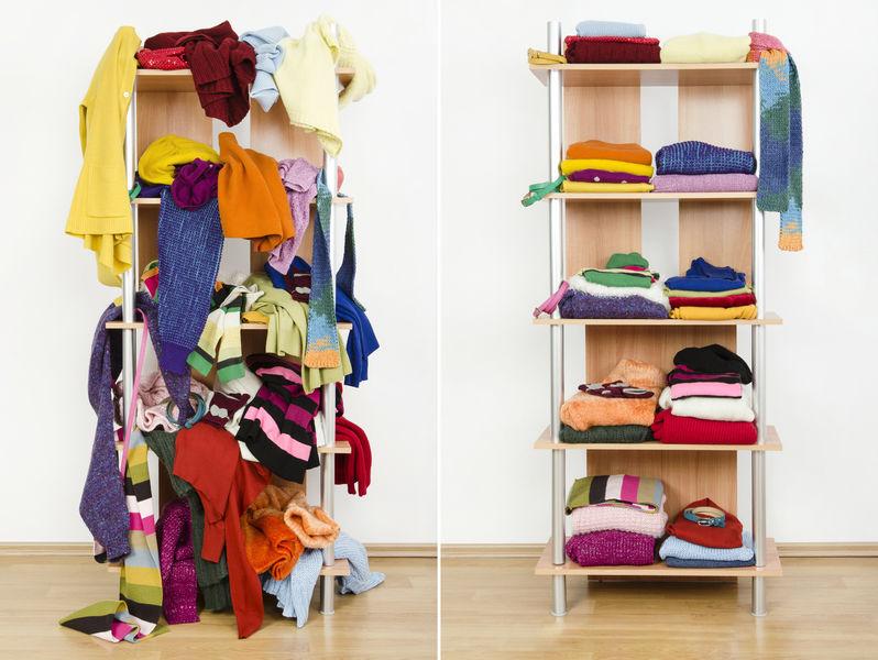 So bringen Sie gezielt Ordnung in Ihren Kleiderschrank